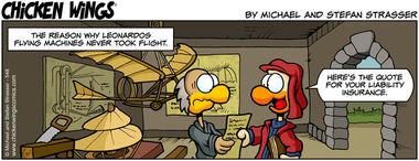 Leonardo's flying machines