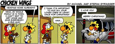 Christmas hugs