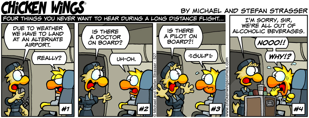 Four things you never want to hear during a long distance flight…