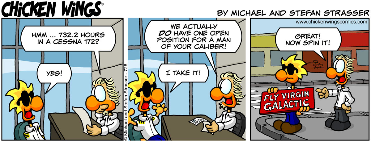 Chuck is hired at Virgin Galactic