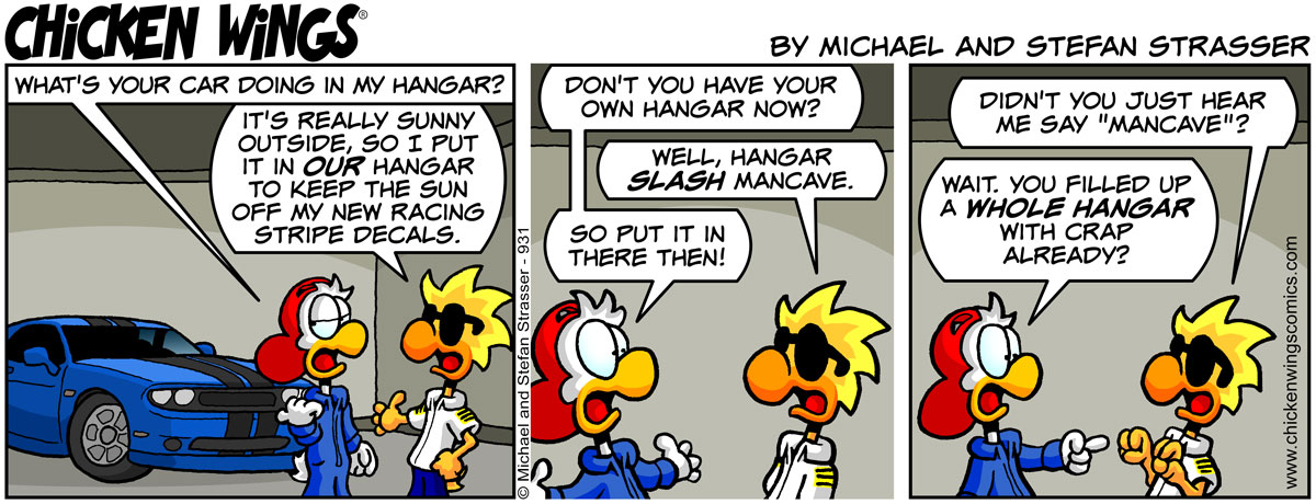 Don't you have your own hangar?