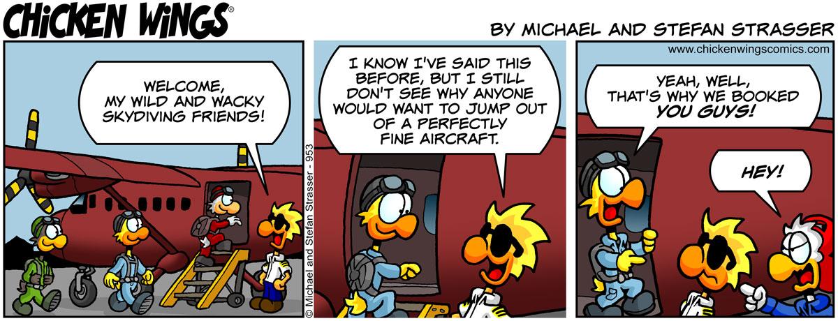 Skydivers' choice