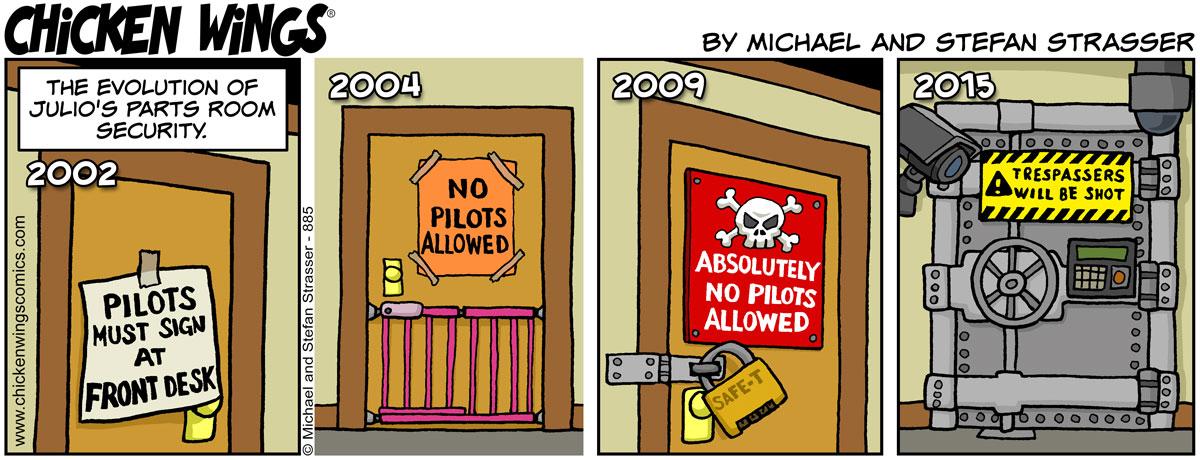 Julio's parts room security