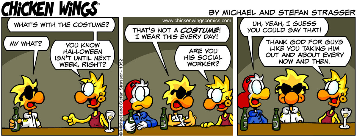What's with the costume?