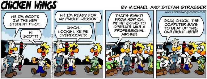Flight lesson trouble