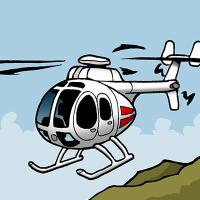 Hughes 500 cruising