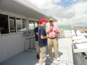 Mike and Stef get interviewed in Oshkosh