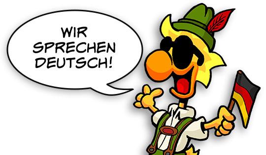 Wir sprechen Deutsch!