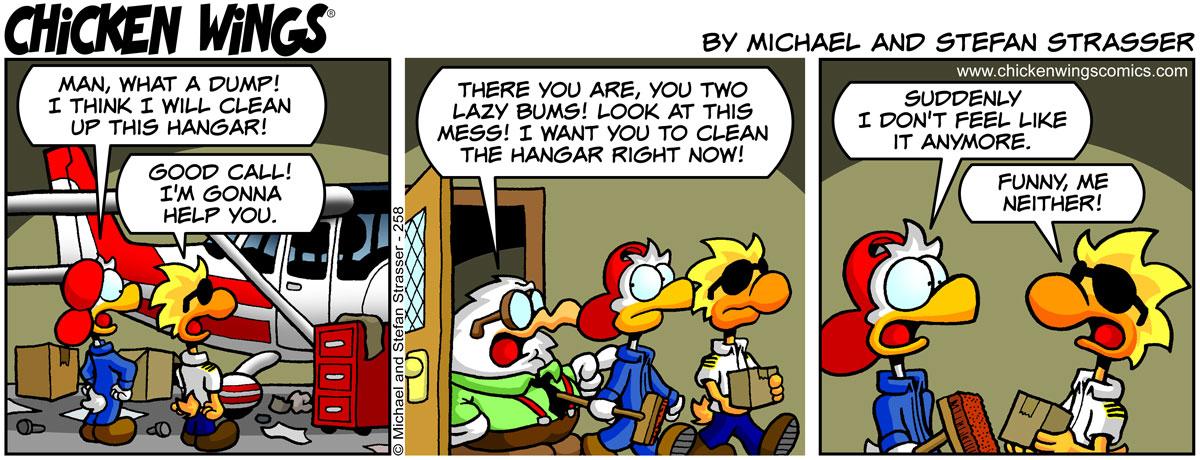 Clean up the hangar