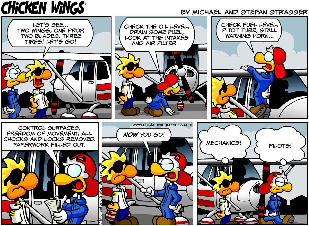 Pilot vs. mechanic preflight