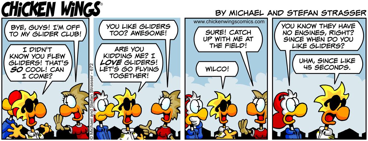 Chuck loves gliders