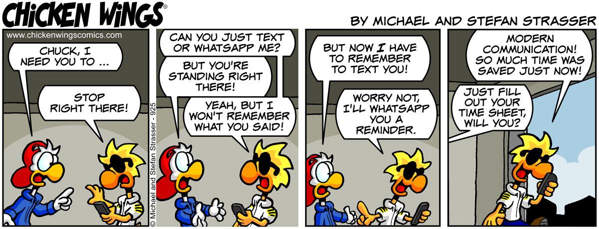 Modern communication – Chicken Wings Comics