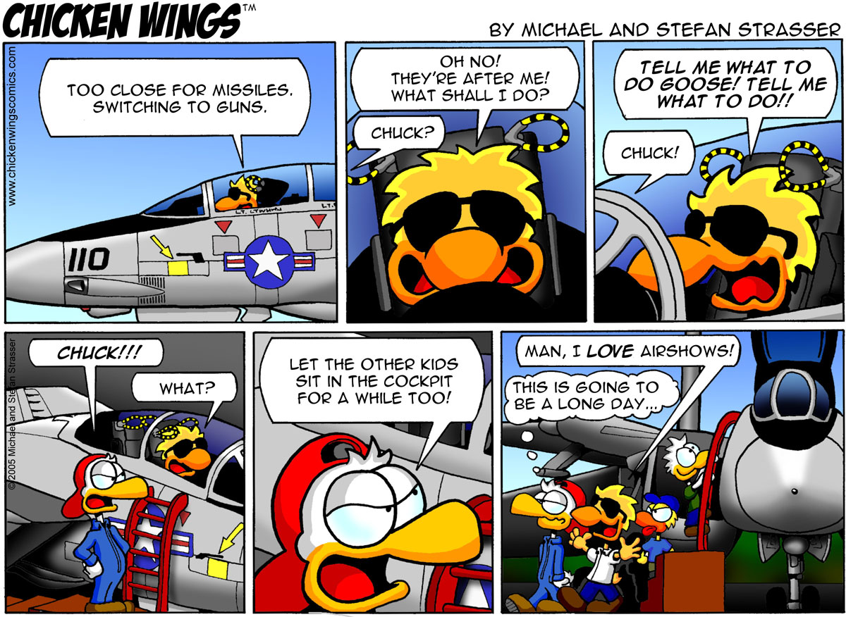 Chicken Wings Classic – Too close for missiles. Switching to guns.