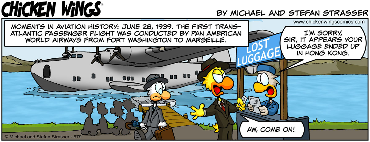 First transatlantic passenger flight