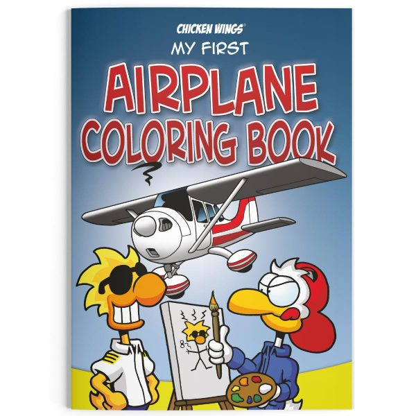 """Chicken Wings """"My First Airplane Coloring Book"""""""