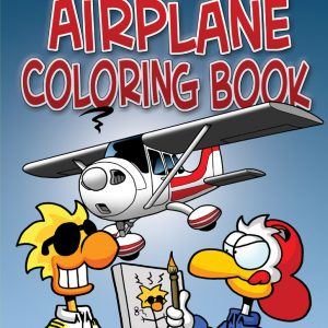 "Chicken Wings ""My First Airplane Coloring Book"" Cover"