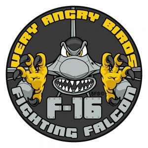 """Very Angry Birds"" F-16 Fighting Falcon Patch"