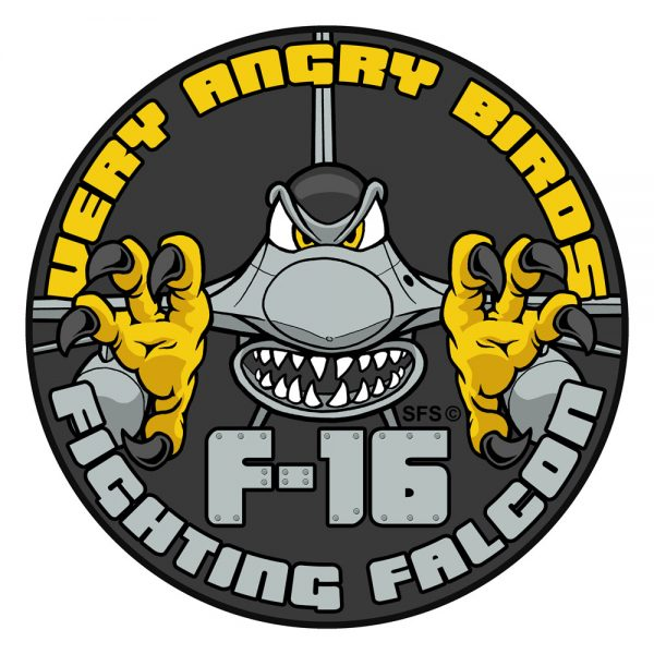 """""""Very Angry Birds"""" F-16 Fighting Falcon Patch"""
