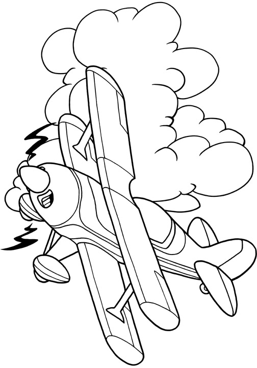 """Chicken Wings """"My First Airplane Coloring Book"""" Page 3 Sample"""
