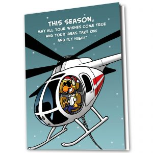 "Christmas Card ""Helicopter Christmas"""
