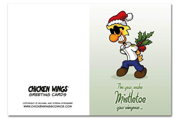 """Christmas Card """"Wingman"""" Outside"""