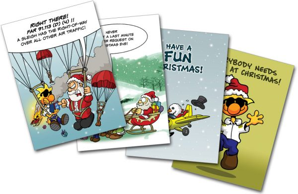 Chicken Wings Christmas Card COMBO - Xmas - Greeting Cards
