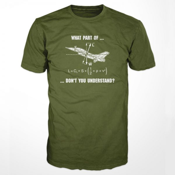 "T-Shirt ""Aerodynamics"" - Front - OD Green"