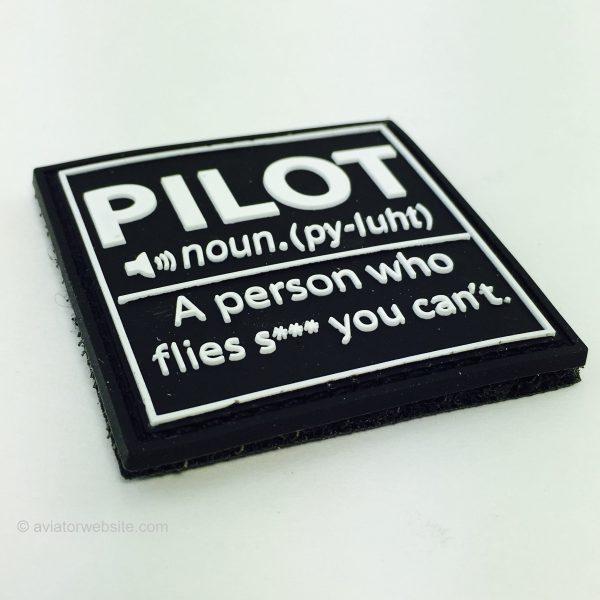 """Definition of """"PILOT"""" - PVC Morale Patch"""