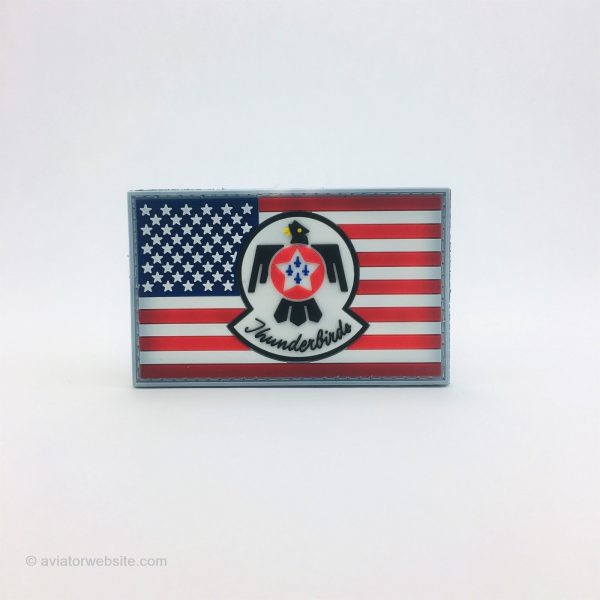 """USAF """"Thunderbirds"""" Patch with US Flag"""