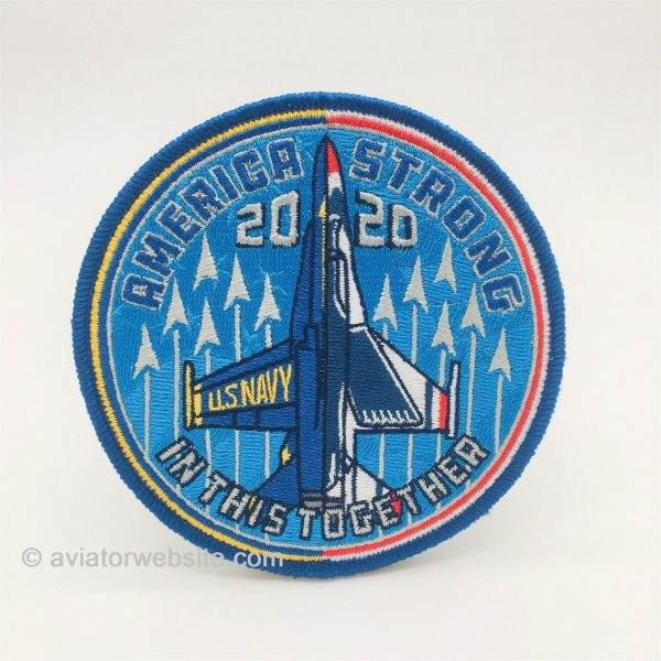 """Blue Angels 2020 """"America Strong"""" Patch"""