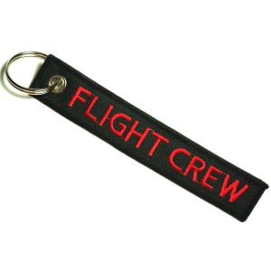 """""""Flight Crew"""" Embroidered Key Chain"""