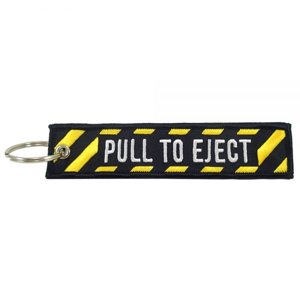 """""""Pull To Eject"""" Key Chain"""