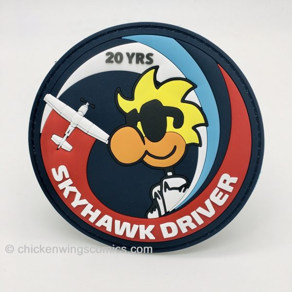 """""""SKYHAWK DRIVER"""" Chicken Wings 20th Anniversary PVC Patch"""