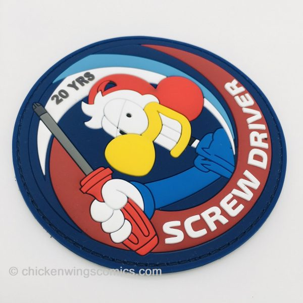 """""""SCREW DRIVER"""" Chicken Wings 20th Anniversary PVC Patch"""
