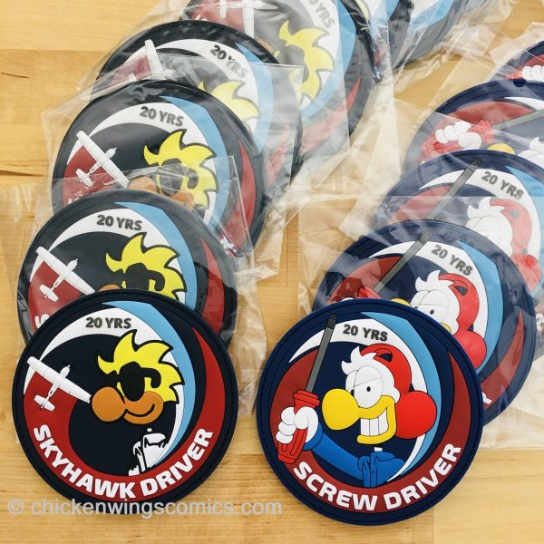 Chicken Wings 20th Anniversary PVC Patches